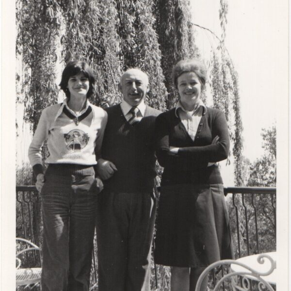 1975 - Caterina and Arturo Frassine with their daughter Liliana